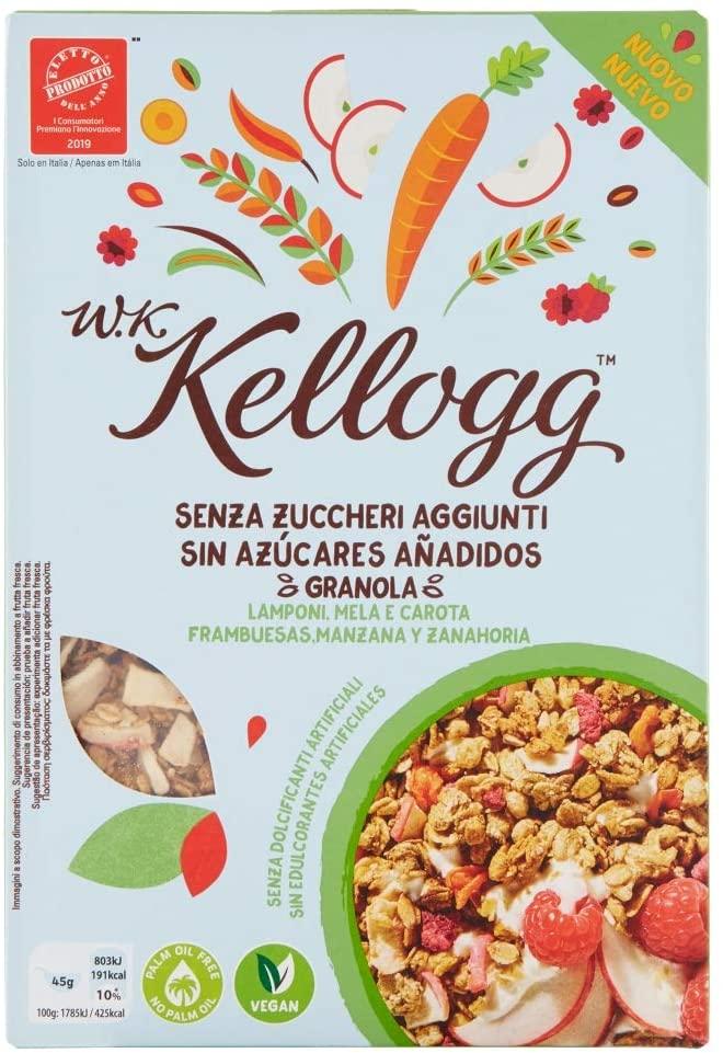 Cereal con granola, frambuesa y zanahoria. Comida de camping