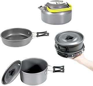 Utensilios cocina camping. Comida de camping - comida al aire libre