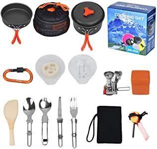 utensilios de cocina. comida de camping - comida aire libre